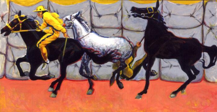 1996 01 04 Cavalli 22 Acryl auf Leinwand 130x243 cm