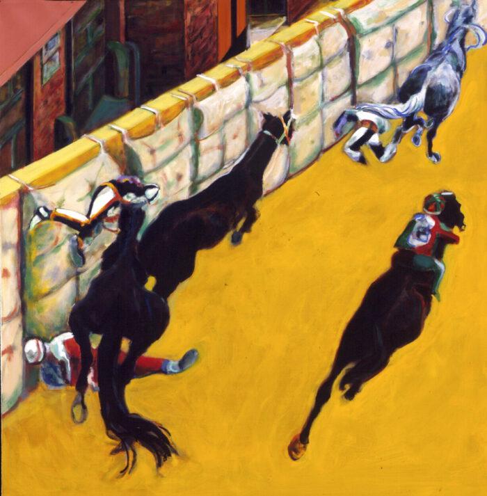 1996 01 13 Cavalli 1 Acryl auf Leinwand 169 5x164 cm