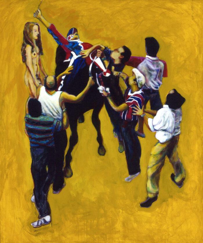 1996 01 14 Cavalli 6 Acryl auf Leinwand 179x150 cm