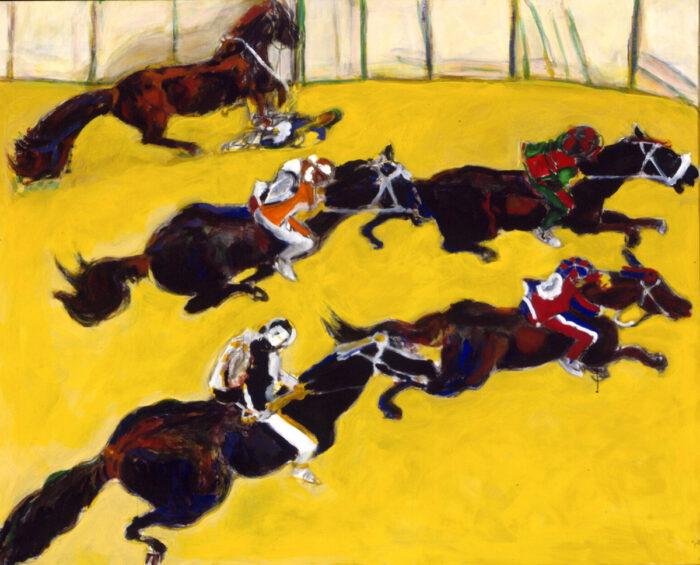 1996 01 25 Cavalli 19 Acryl auf Leinwand 130x160 cm