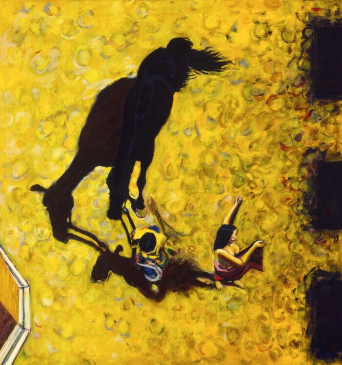 1996 01 27 Cavallo 2 Acryl auf Leinwand 142x133 cm