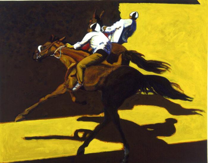 1996 01 28 Cavalli 7 Acryl auf Leinwand 129x161 cm