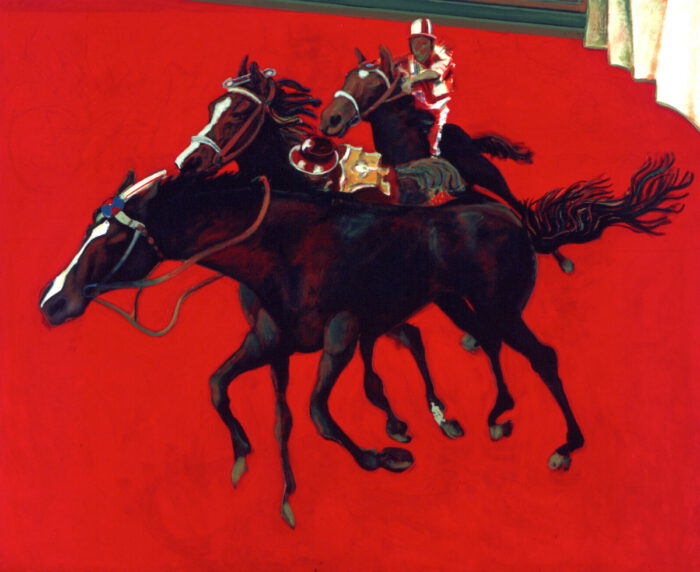 1996 01 35 Cavalli 32 Roter Fries Acryl auf Leinwand 190x230 cm