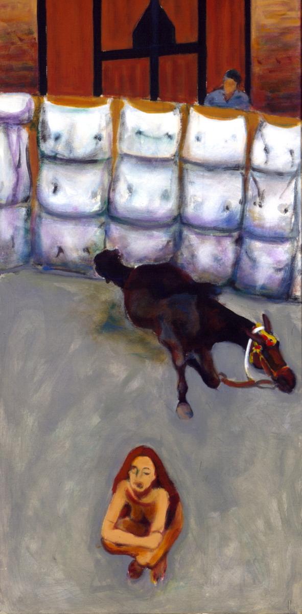1996 01 36 Cavallo 3 Acryl auf Leinwand 120x60 cm