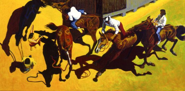 1996 01 39 Cavalli 29 Acryl auf Leinwand 192x400 cm