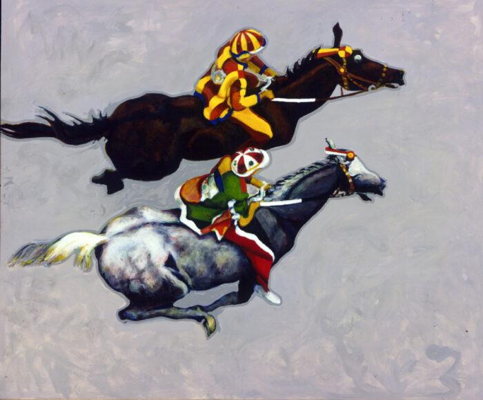 1996 01 41 Cavalli 14 Acryl auf Leinwand 196x232 cm