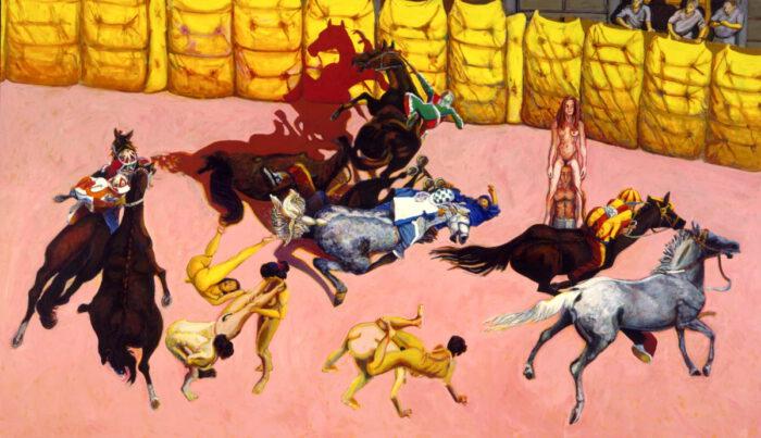1996 01 48 Cavalli 28 Acryl auf Leinwand 295x595 cm