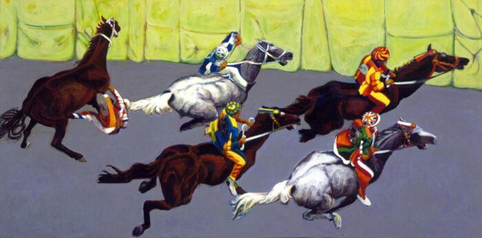 1996 01 49 Cavalli 8 Acryl auf Leinwand 168x347 cm