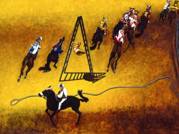 1996 01 50 Cavalli 23 Acryl auf Leinwand 295x400 cm