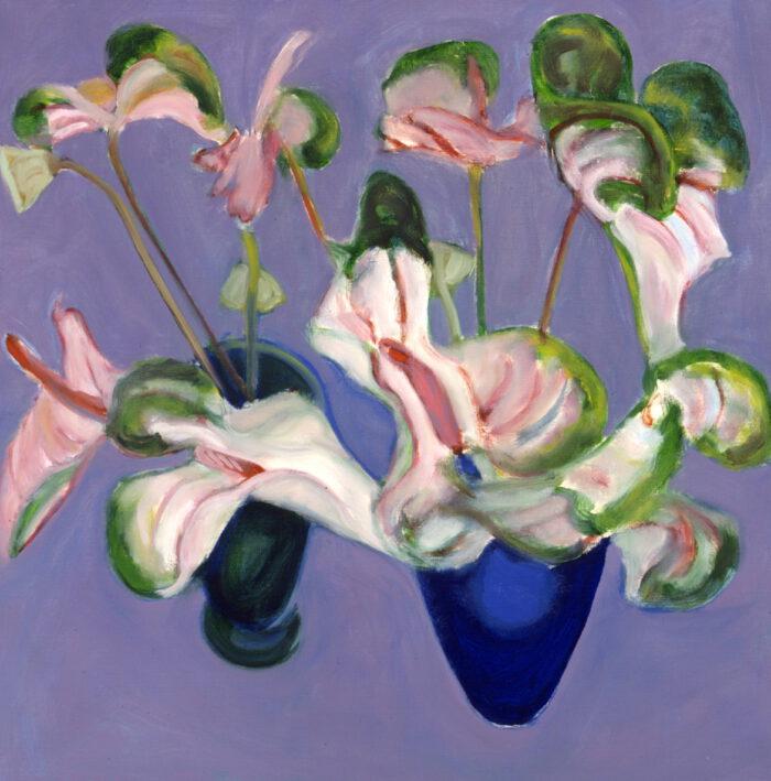1996 03 02 Anthurien Acryl auf Leinwand 80x80 cm