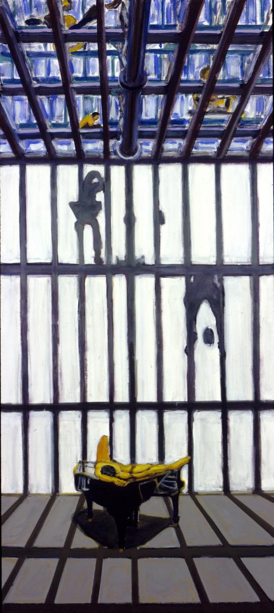 1996 05 05 o.T. Atelier 3 Acryl auf Leinwand 199x90 cm