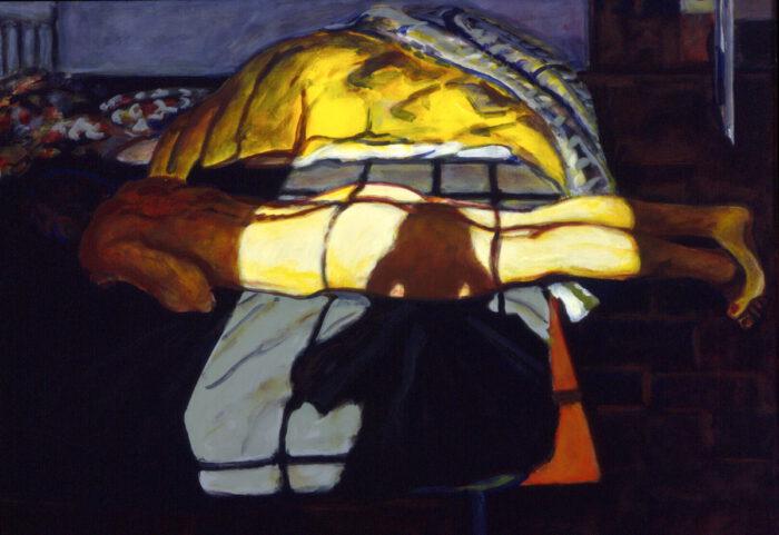 1996 06 02 o.T. Ulla Acryl auf Leinwand 80x100 cm