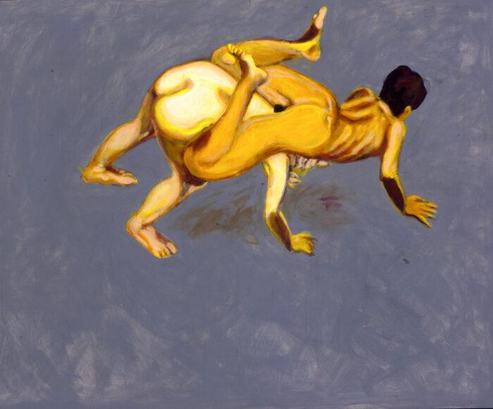 1996 08 01 o.T. Doppelakt Acryl auf Leinwand 129x160 cm