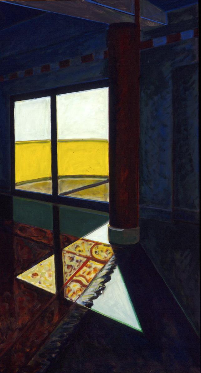 1996 10 01 o.T. Fenster 1 Himmelgeister Acryl auf Leinwand 185x100 cm