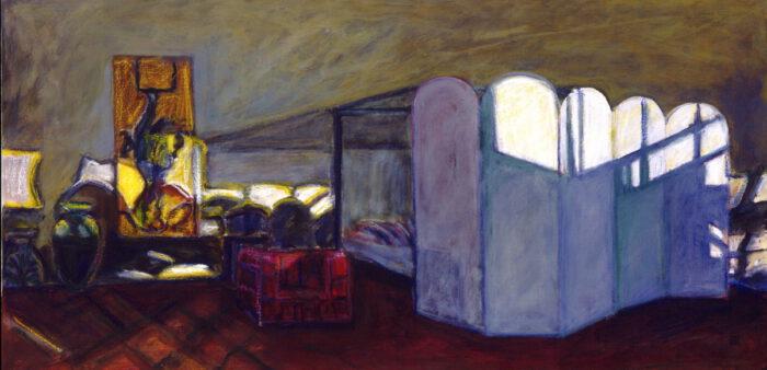 1996 12 01 Paravent Acryl auf Leinwand 50x100 cm