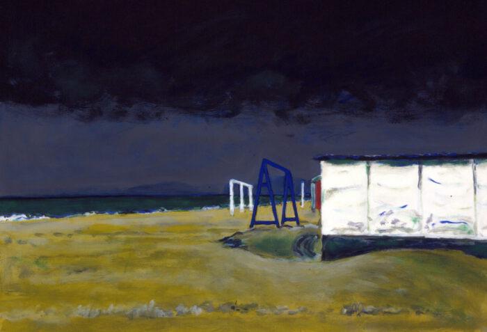 1996 13 01 o.T. Gewitter Acryl auf Leinwand 70x100 cm