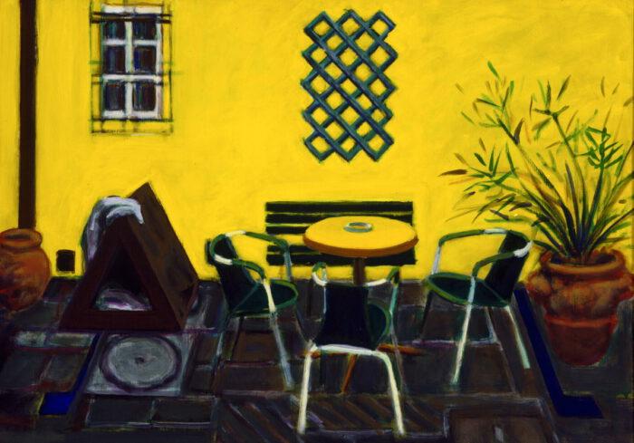 1996 14 01 Terrazza 4 Acryl auf Leinwand 90x124 cm