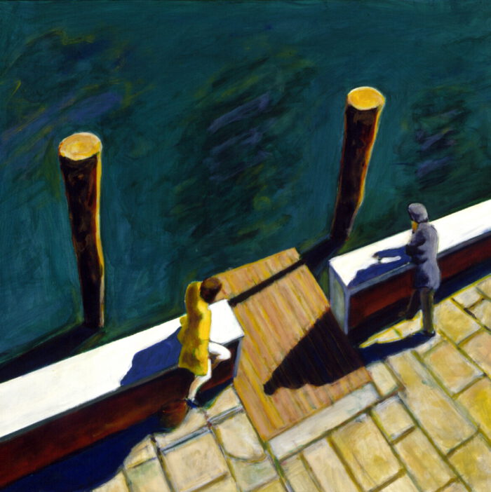 1996 16 01 Venedig Acryl auf Leinwand 119x119 cm