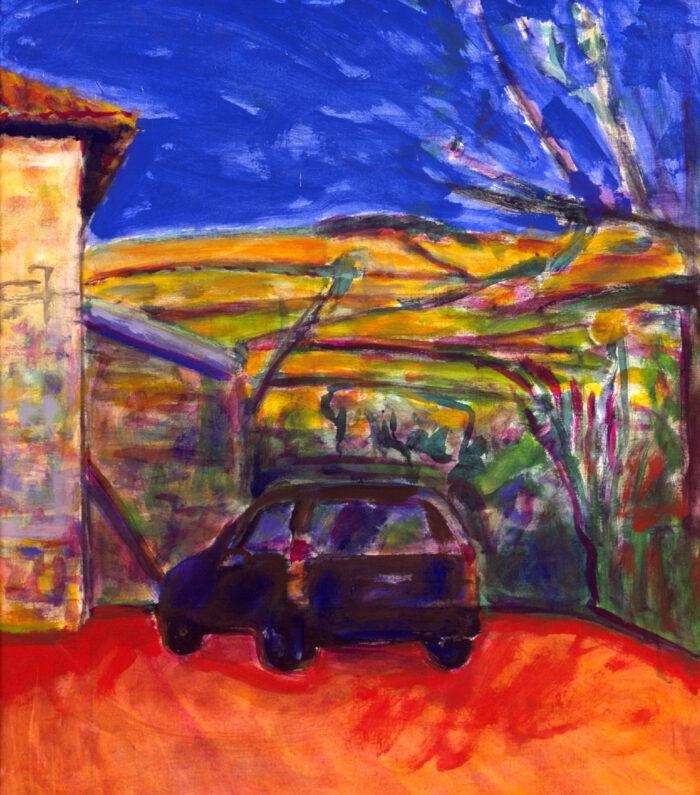 1996 17 01 o.T. Testa Acryl auf Leinwand 80x70 cm