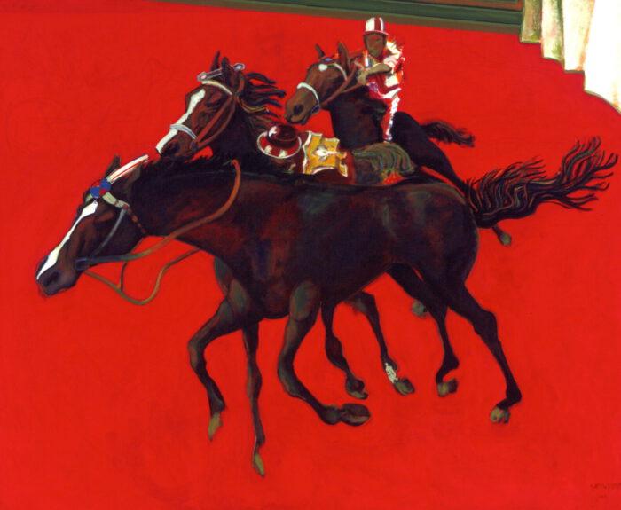 1997 01 01 Cavalli 10 Roter Fries Acryl auf Leinwand 188x230 cm