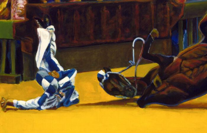 1997 01 06 Caduto 86 Acryl auf Leinwand 100x149 cm