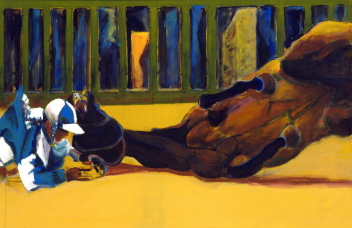 1997 01 10 Caduto 5 Acryl auf Leinwand 100x149 cm
