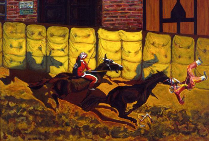 1997 01 17 Cavalli 7 Acryl auf Leinwand 204x300 cm