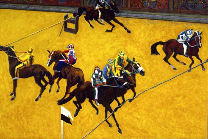 1997 01 18 Cavalli 1 Acryl auf Leinwand 270x400 cm