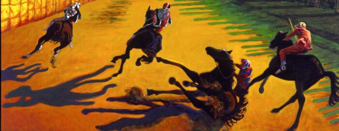 1997 01 28 Cavalli 3 Acryl auf Leinwand 138x348 cm