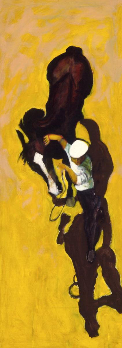 1997 01 30 Cavallo 3 Acryl auf Leinwand 188x70 cm