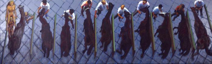 1997 01 31 Cavalli 12 Acryl auf Leinwand 210x678 cm