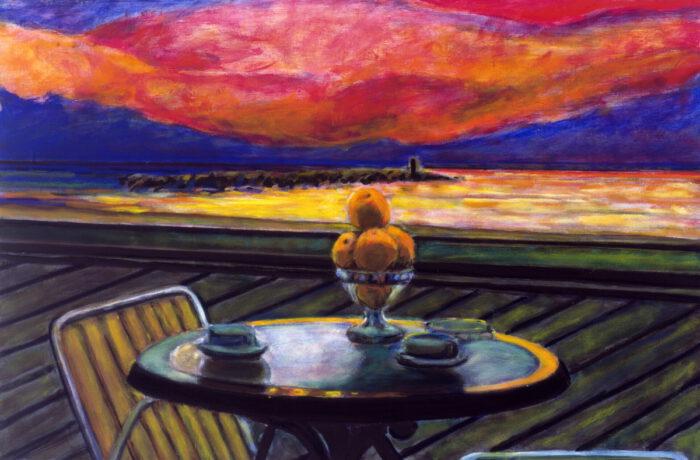 1997 04 02 o.T. ApfelsinenAcryl auf Leinwand 81x119 cm