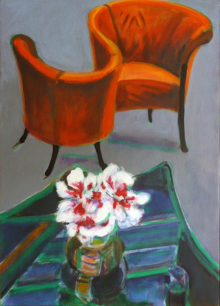1997 05 01 Pfingstrosen I Acryl auf Leinwand 70x50 1