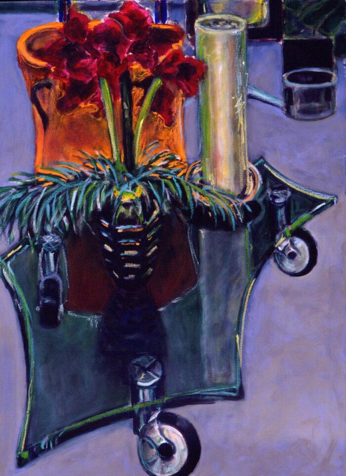 1997 06 01 Amaryllis Acryl auf Leinwand 96x71 cm