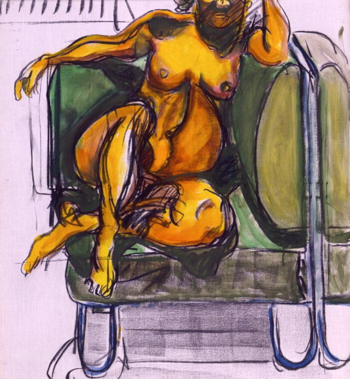 1997 06 02 o.T. Acryl Kohle auf Leinwand 102x90 cm