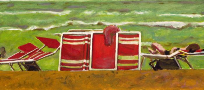 1997 07 01 Strand Acryl auf Leinwand 60x135 cm