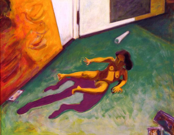 1997 08 01 o.T. Acryl auf Leinwand 100x124 cm