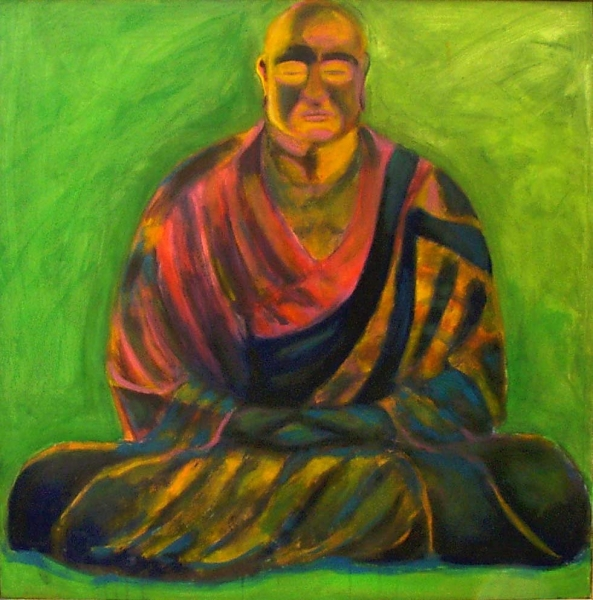 1997 09 01 Buddha Acryl auf Leinwand100x100