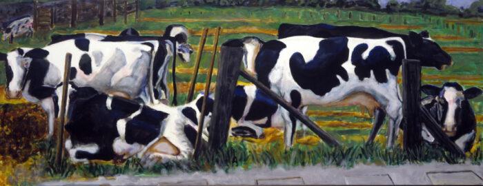 1997 10 01 o.T. Acryl auf Leinwand 119x310 cm