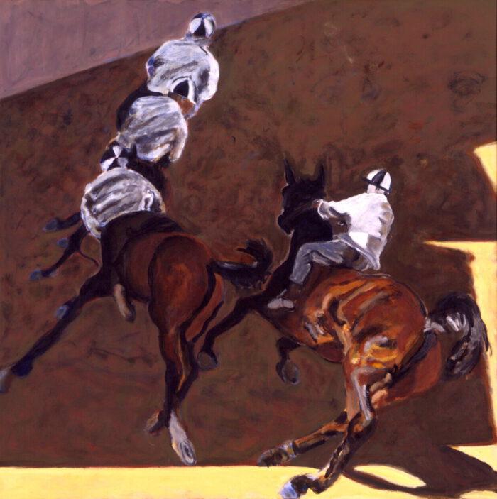 1998 01 01 Cavalli 6 Acryl auf Leinwand 131x131 cm
