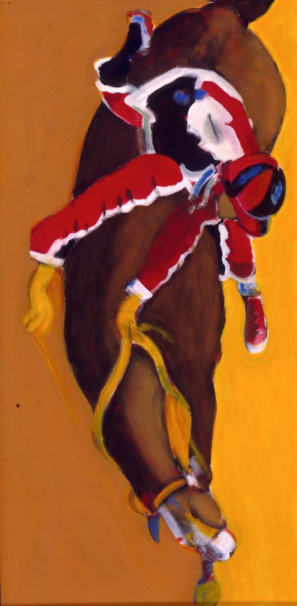 1998 01 02 Cavallo 7 Acryl auf Leinwand 120x60 cm