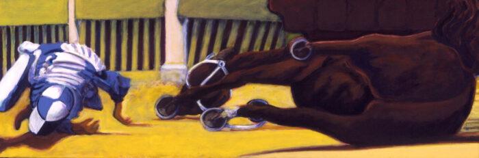 1998 01 08 Caduto 6 Acryl auf Leinwand 70x210 cm