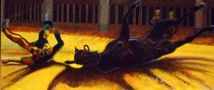 1998 01 10 Caduto 4 Acryl auf Leinwand 120x270 cm