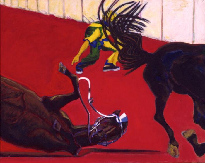 1998 01 12 Caduto 5 Acryl auf Leinwand 128x158 cm