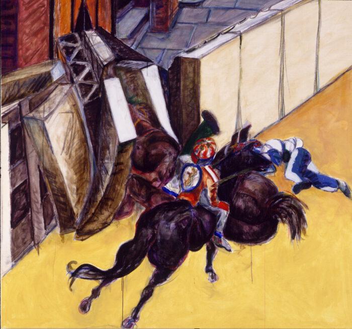 1998 01 18 Cavallo 6 Kohle Acryl auf Leinwand 206x222 cm