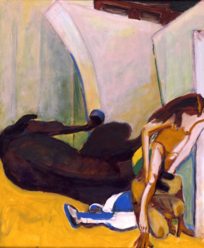 1998 01 21 Caduto 1 Acryl auf Leinwand 120x100 cm