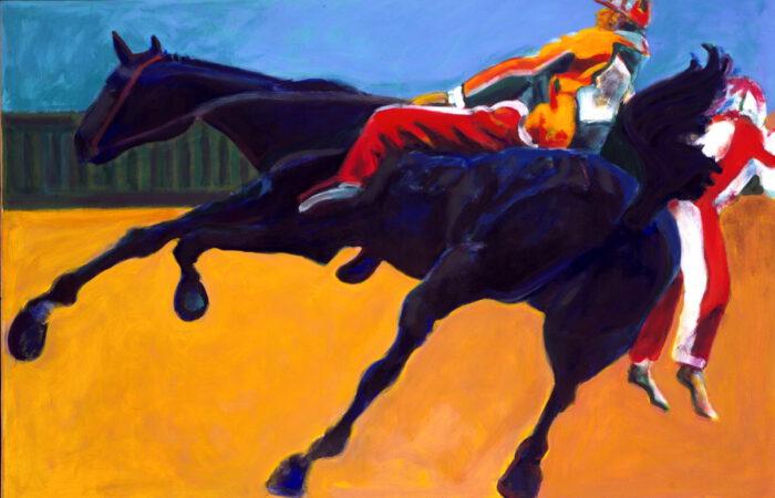 1998 01 22 Cavallo 9 Acryl auf Leinwand 100x150 cm