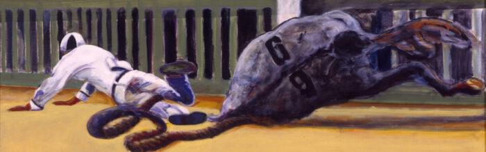 1998 01 23 Caduto 3 Acryl auf Leinwand 70x210 cm