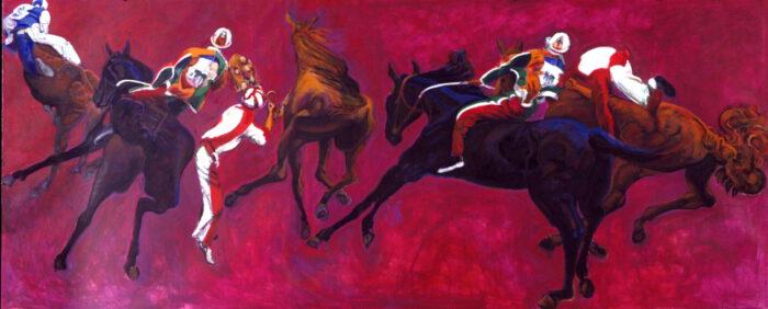1998 01 25 Cavalli 10 Acryl auf Leinwand 205x517 cm