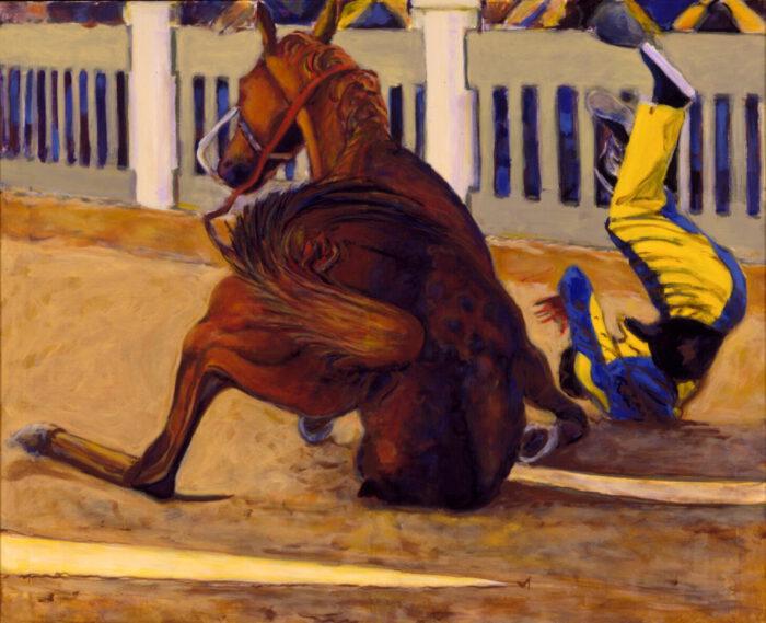 1998 01 30 Caduto 7 Acryl auf Leinwand 120x140 cm